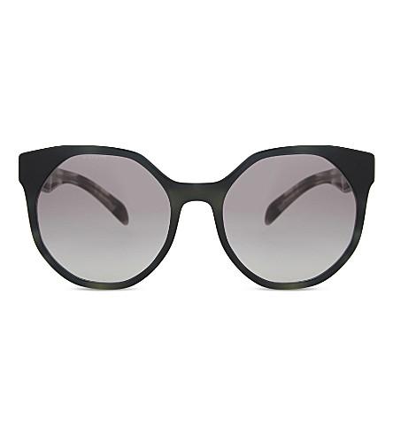 PRADA PR11Ts irregular round-frame sunglasses (Striped+grey
