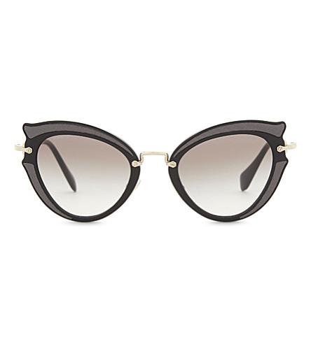 MIU MIU Mu05s cat-eye sunglasses (Black