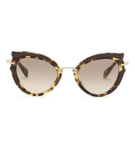 MIU MIU Mu05s cat-eye sunglasses (Light+havana