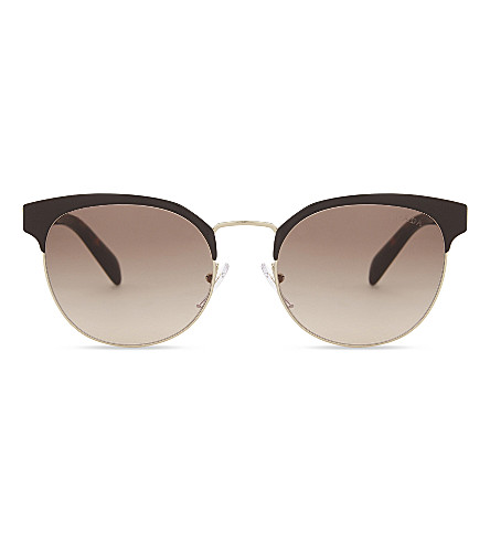 PRADA Pr61t cat-eye sunglasses (Pale+gold