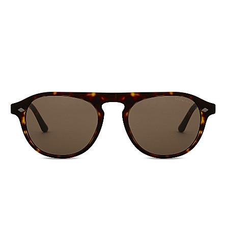 GIORGIO ARMANI Ar8096 Phantos round-frame sunglasses (Havana