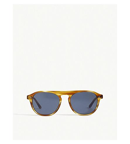 EMPORIO ARMANI Ar8096 Phantos round-frame sunglasses (Light+brown