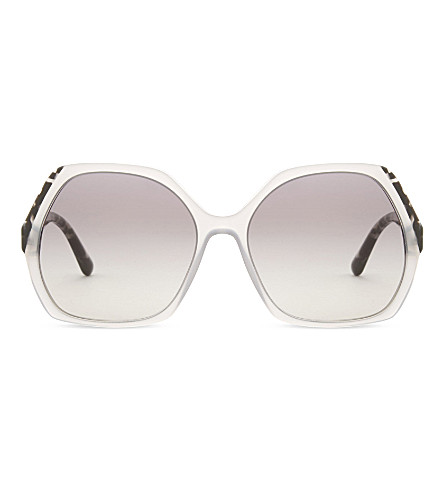 EMPORIO ARMANI Ar8099 hexagon-frame sunglasses (Grey