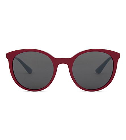 PRADA Pr17ss round-frame sunglasses (Bordeaux