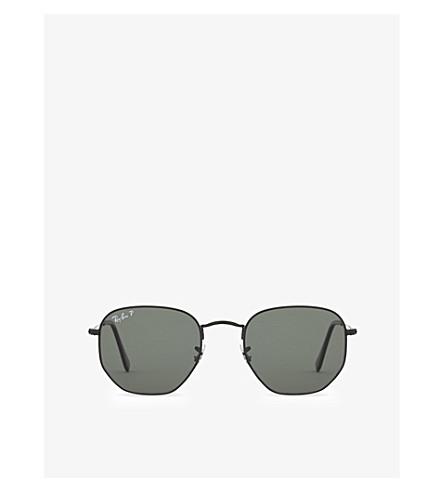 RAY-BAN Rb3548N hexagonal sunglasses (Black