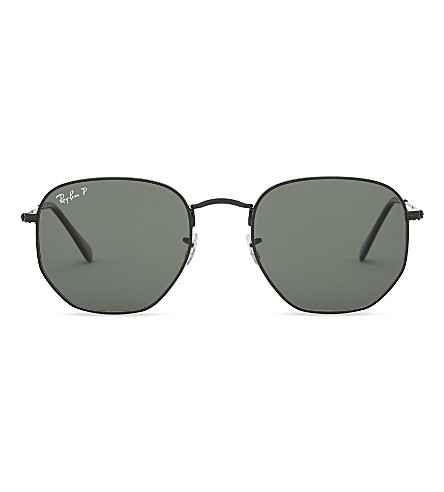 RAY-BAN Rb3548N hexagonal sunglasses (Black