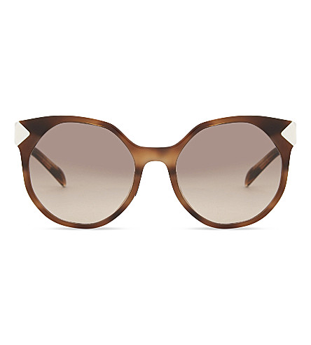 PRADA Pr11ts round-frame sunglasses (Dark+brown