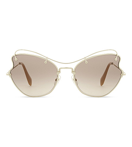 MIU MIU Mu56r butterfly sunglasses (Pale+gold
