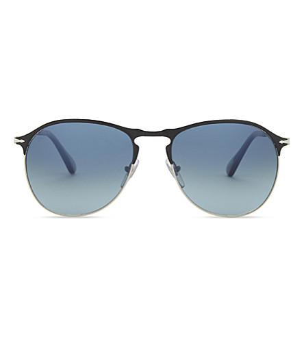 PERSOL Po7649s round-frame sunglasses (Black