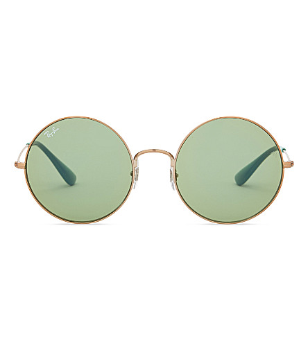 RAY-BAN Rb3592 round-frame sunglasses (Shiny+copper