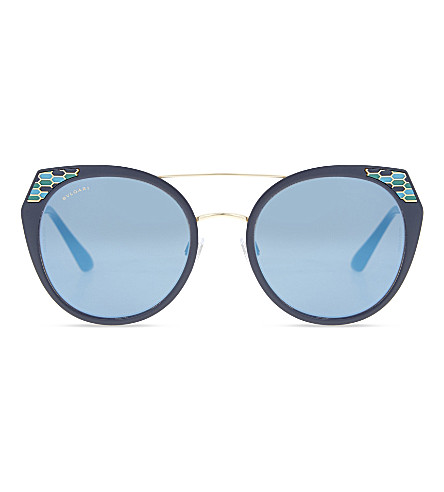 BVLGARI BV6095 cat-eye-frame sunglasses (Blue