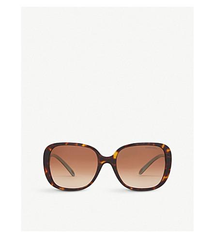 TIFFANY & CO Tf4137b square-frame sunglasses (Havana