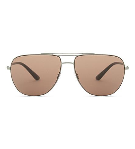 GIORGIO ARMANI Ar6060 aviator sunglasses (Matte+gunmetal