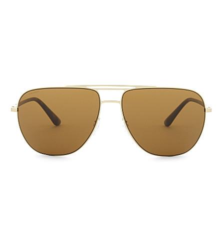 GIORGIO ARMANI Ar6060 aviator sunglasses (Matte+pale+gold