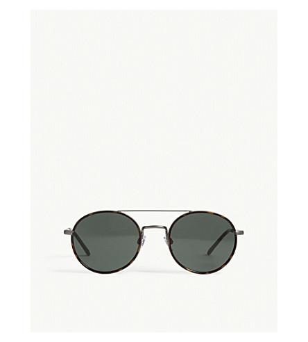 EMPORIO ARMANI Ar6056-J round-frame sunglasses (Havana