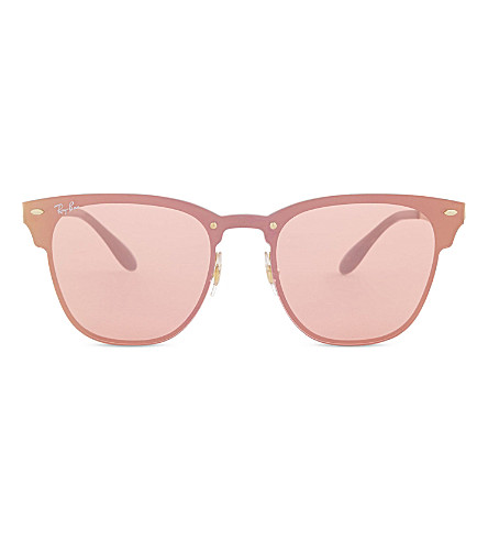 RAY-BAN Rb3576 square-frame sunglasses (Pink+gold