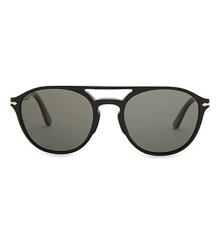 PERSOL Po3170s Phantos square-frame sunglasses (Black