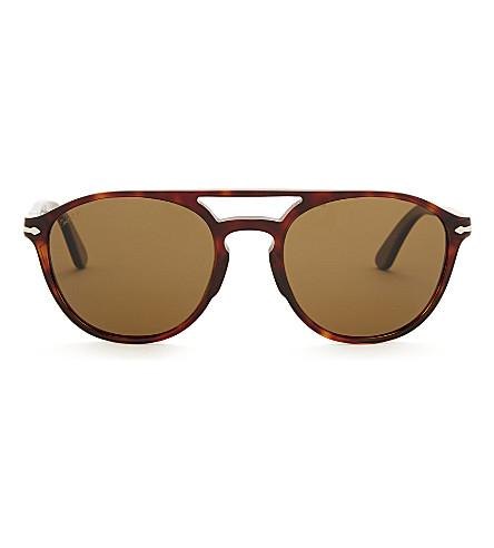 PERSOL PO3170s round-frame sunglasses (Havana
