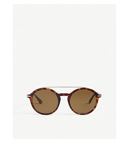 PERSOL Po3172s round-frame sunglasses (Havana