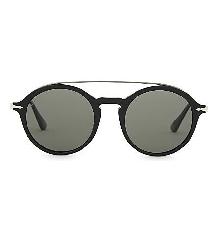 PERSOL Po3172s round-frame sunglasses (Black