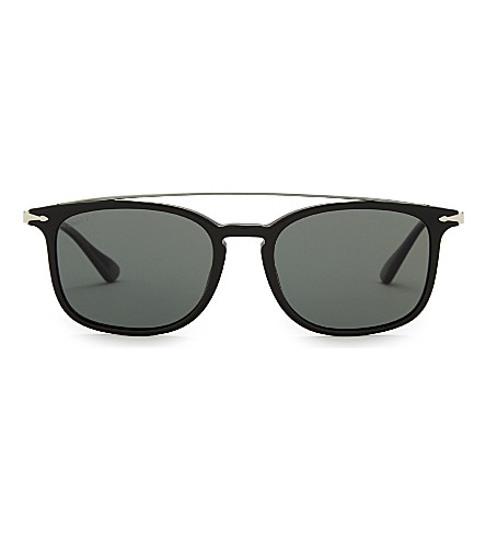 PERSOL Po3173s square-frame sunglasses (Black