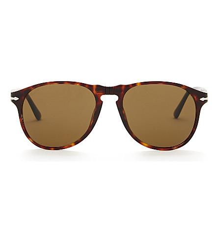 PERSOL Po6649s aviator sunglasses (Havana
