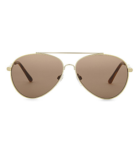 BURBERRY BE3092 aviator sunglasses (Light+gold