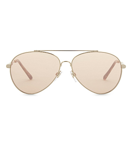 BURBERRY BE3092Q pilot-frame sunglasses (Gold
