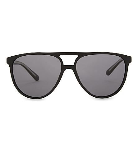 BURBERRY BE4254 pilot-frame sunglasses (Black