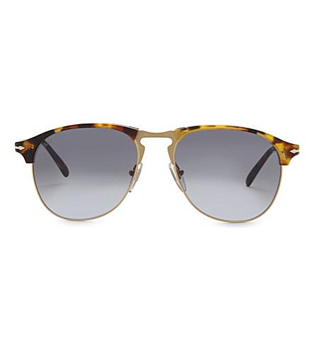 PERSOL Po8649s aviator sunglasses (Havana