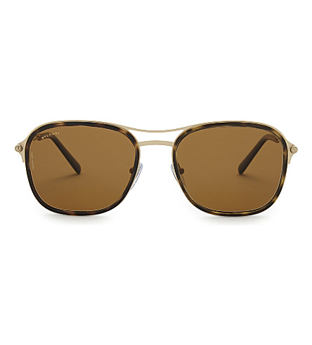BVLGARI Bv5041 square-frame sunglasses (Havana