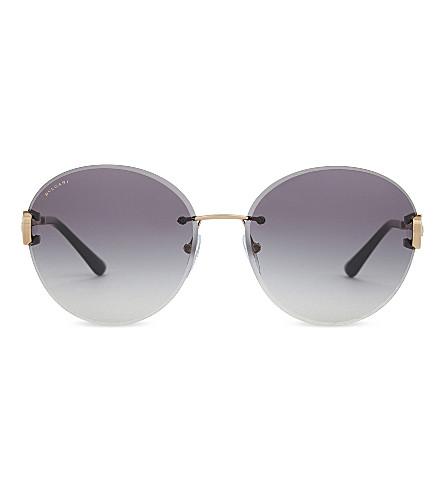 BVLGARI Bv6091 round-frame sunglasses (Gold