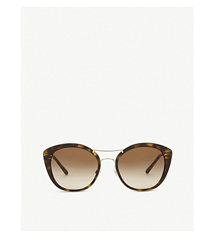 BURBERRY BE4251 round havana sunglasses (Dark+havana