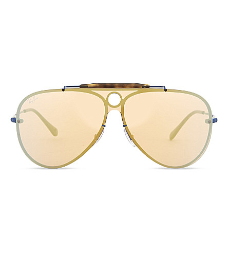 RAY-BAN Rb3581 aviator sunglasses (Blue
