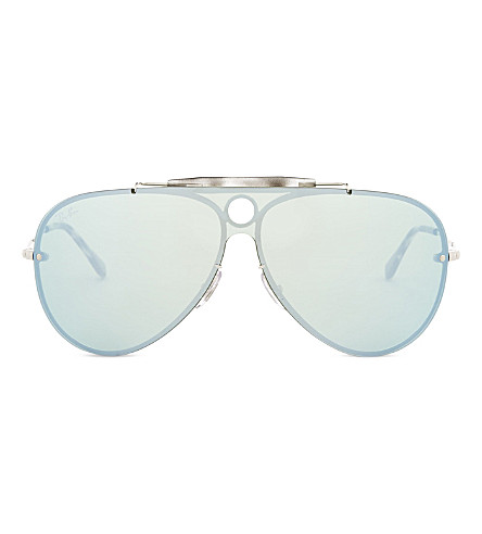 RAY-BAN Rb3581 aviator sunglasses (Silver