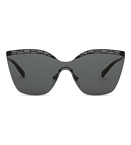 BVLGARI Bv6093 irregular-frame sunglass (Matte+black