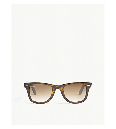 RAY-BAN RB4340 square-frame sunglasses (Havana