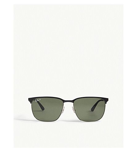 RAY-BAN Rb3569 square-frame sunglasses (Black