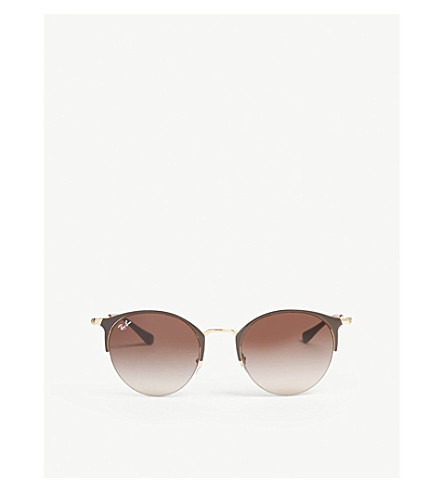 RAY-BAN RB3578 phantos-frame sunglasses (Gold