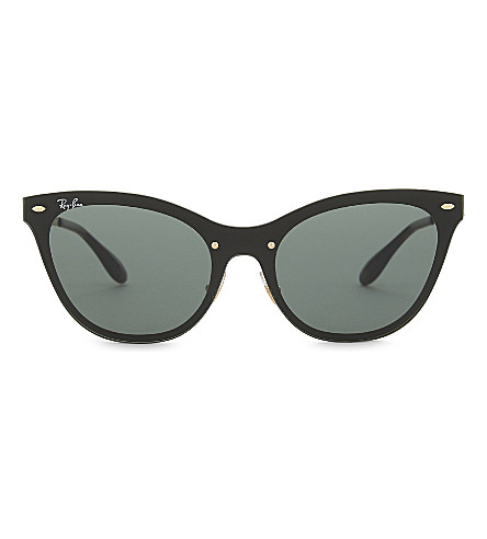 RAY-BAN Rb3580 cat-eye sunglasses (Gold
