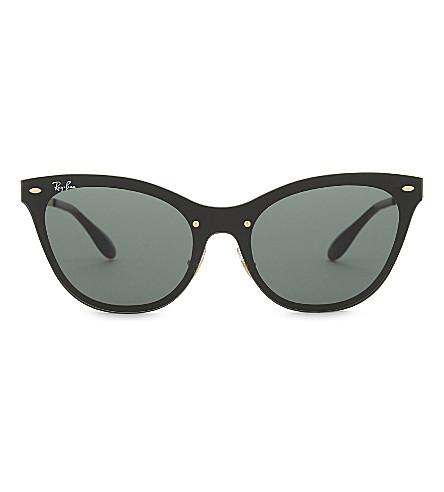 RAY-BAN Rb3580 cat-eye sunglasses (Gold