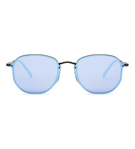 RAY-BAN RB3579n Blaze Hexagonal sunglasses (Black