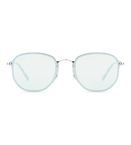 RAY-BAN Blaze rb3579n hexagonal sunglasses (Silver