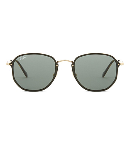 RAY-BAN Rb3574n square-frame sunglasses (Gold