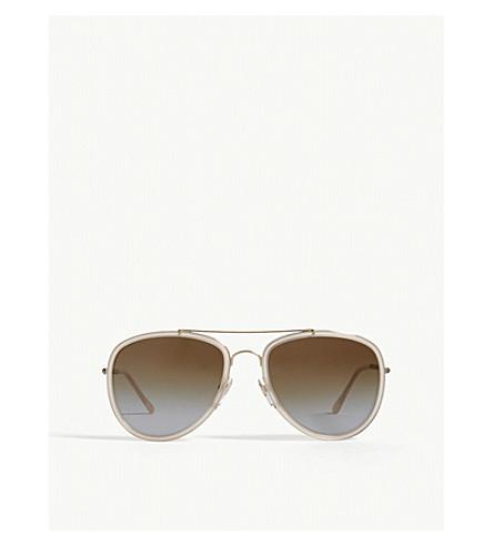BURBERRY B3090 aviator sunglasses