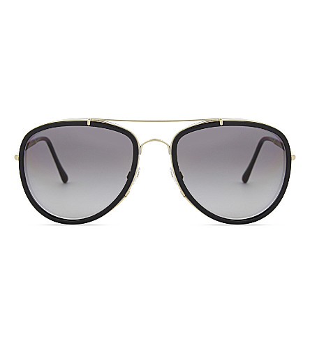 BURBERRY BE3090 aviator sunglasses (Light+gold/black