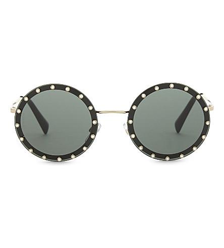 VALENTINO Va2010 round-frame sunglasses (Gold