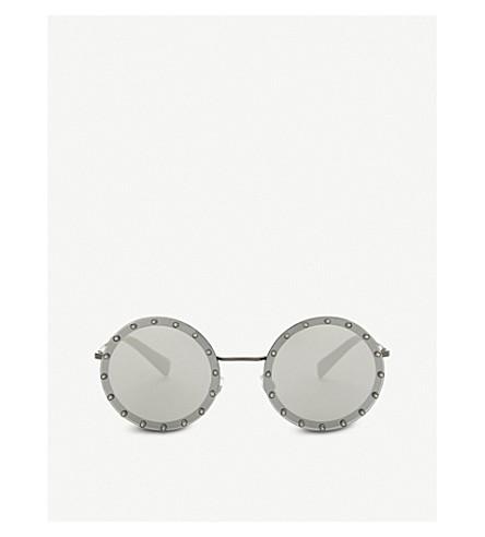VALENTINO Va2010 round-frame sunglasses (Gunmetal