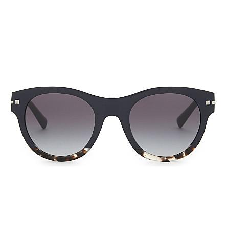 VALENTINO Va4020 round-frame sunglasses (Blue