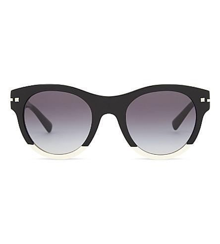 VALENTINO Va4020 round-frame two-tone sunglasses (Black
